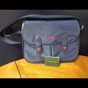 Navy Canvas Shoulder Bag